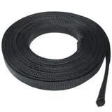 12mm Braided Cable Sleeve, Black Color