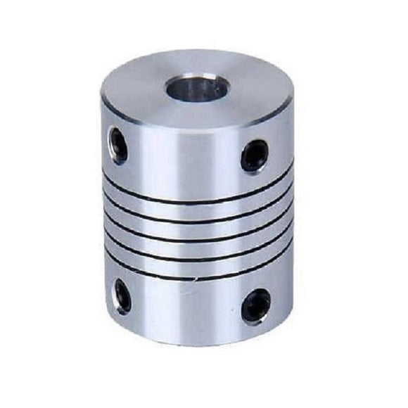 Buy 5mm x 8mm Aluminium Flexible Shaft Coupling online from DIY-India.com