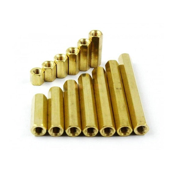 Buy M3 x 8mm Brass Hex Spacer M3, Female To Female, 8mm Length online from DIY-India.com