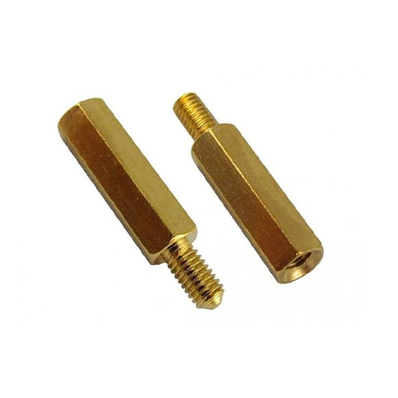 M3 x 10mm Brass Standoff/Spacer, Male To Female, M3 Hex, 10mm Length