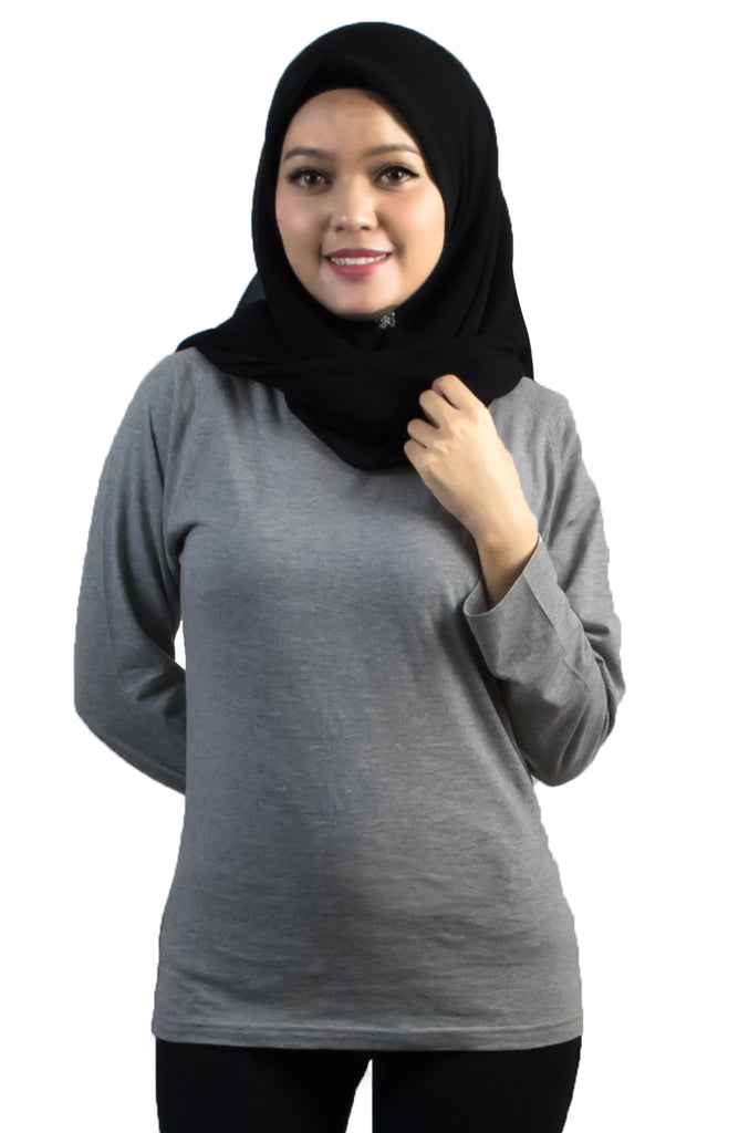 EM800 Raglan Long Sleeve Tee Ladies 165 gsm