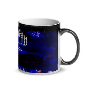 Jewish Menorah Glossy Magic 11oz Mug