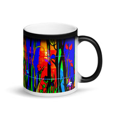 Load image into Gallery viewer, Abstract Bamboo Matte Black Magic 11oz Coffee Mug