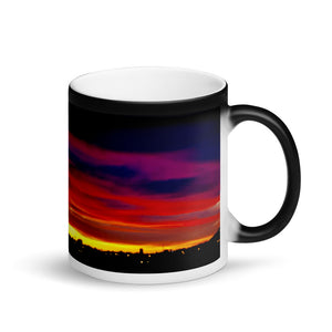 Sunset Purple Hue's 11oz Matte Black Magic Coffee  Mug
