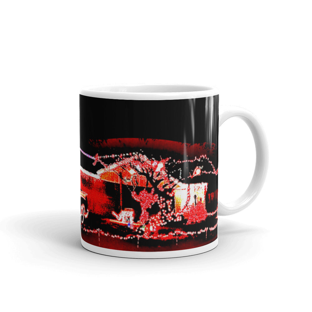 Christmas Pickup Truck Lights Mug
