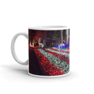 Xmas Lights American Flag Coffee Mug