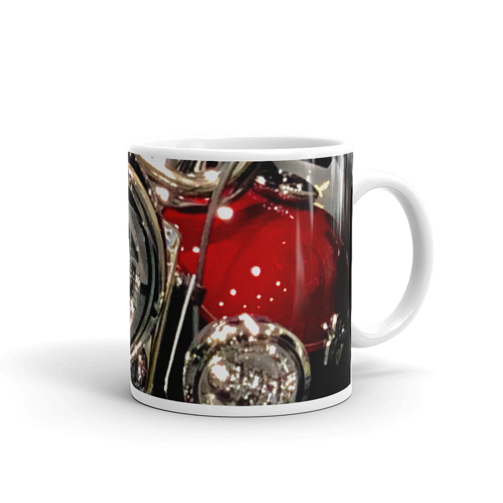 Motorcycle Headlights Coffee Mug
