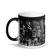 Load image into Gallery viewer, New York Times Square Matte Black Magic 11oz Coffee Mug