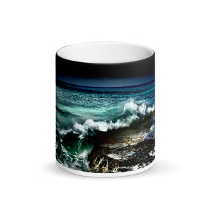 Yokohama Bay Matte Black Magic 11oz Coffee  Mug