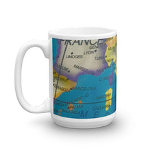 Load image into Gallery viewer, Map of Italy & Europe 15oz Coffee Mug