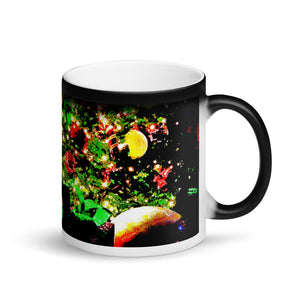 Merry Christmas Matte Black Magic 11oz Coffee Mug