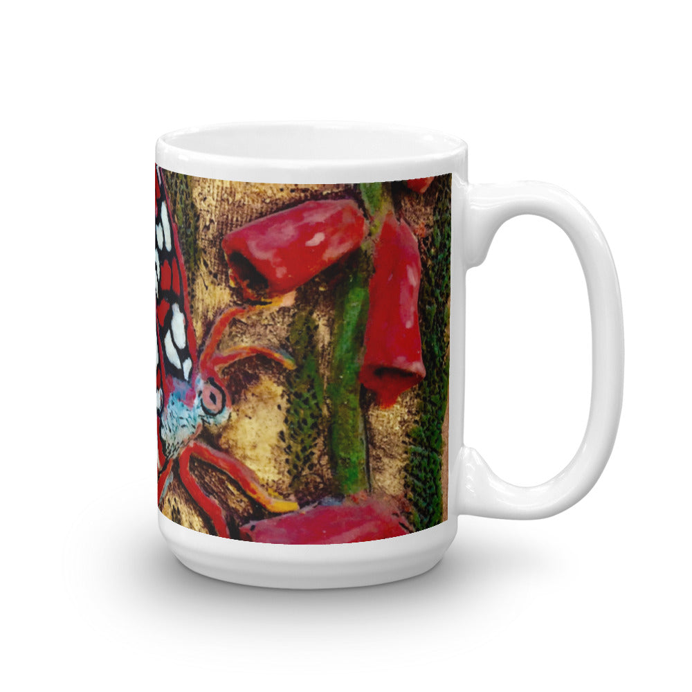 Red Butterfly 15oz Coffee Mug