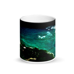 Hawaii Diamond Head Lighthouse 11oz Matte Black Magic Coffee Mug