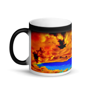 Exotic Sunset Sky Clouds 11oz Matte Black Magic Coffee Mug
