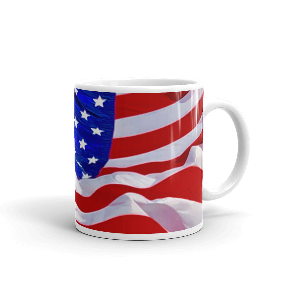 American Flag Wavy Coffee Mug
