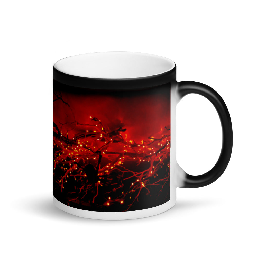 Halloween Lights Matte Black Magic 11oz Coffee Mug