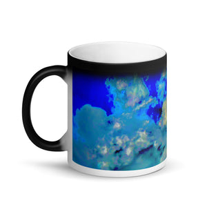 Transitioning Clouds Matte Black Magic 11oz Coffee Mug