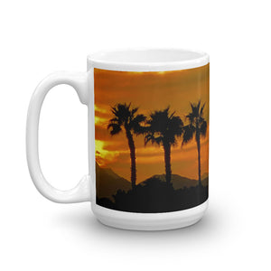 Sunset 6 Palm Tree's 15oz Coffee Mug