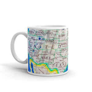Map of USA Coffee Mug