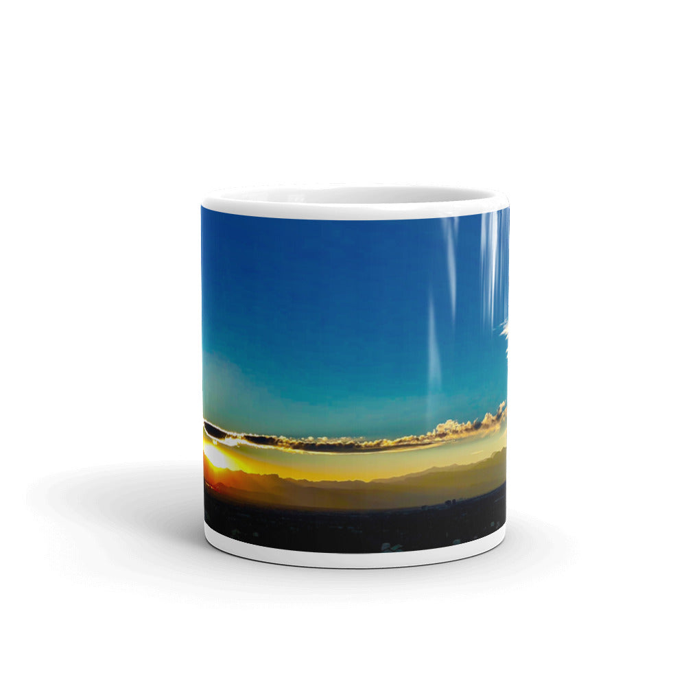Blue Sky Sunset Coffee Mug