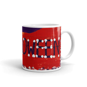 Red Halloween Banner  Coffee Mug