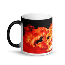Load image into Gallery viewer, Spirit In The Sky Matte Black Magic 11oz Coffee  Mug