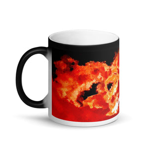 Spirit In The Sky Matte Black Magic 11oz Coffee  Mug