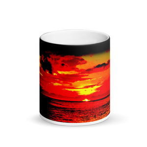 Waikiki Sunset Matte Black Magic 11oz Coffee Mug