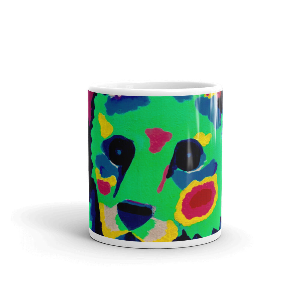 Green Teddy Bear Mug