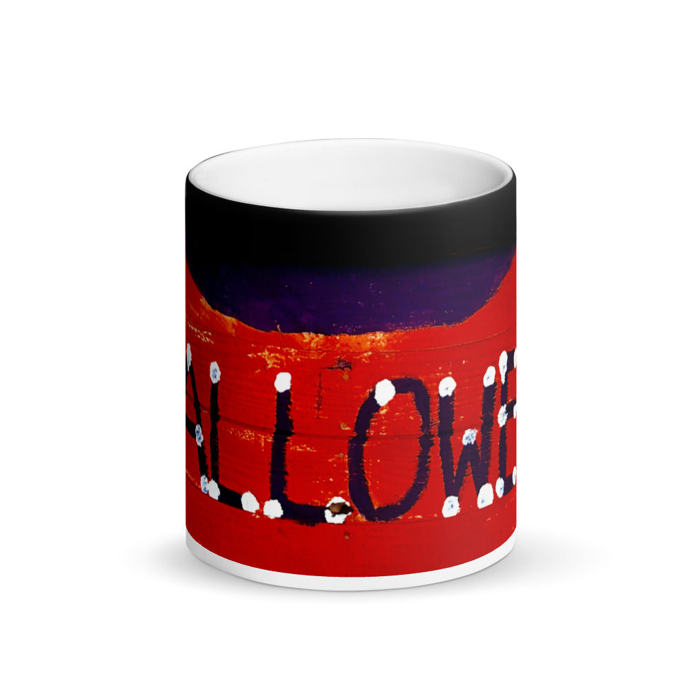 Red Halloween Banner Matte 11oz Coffee Mug