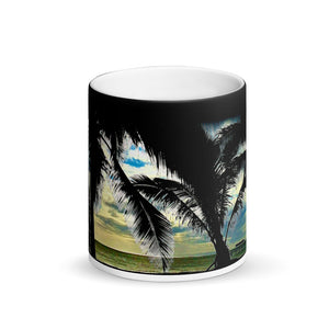 Waimea Bay Matte Black Magic 11oz Coffee Mug
