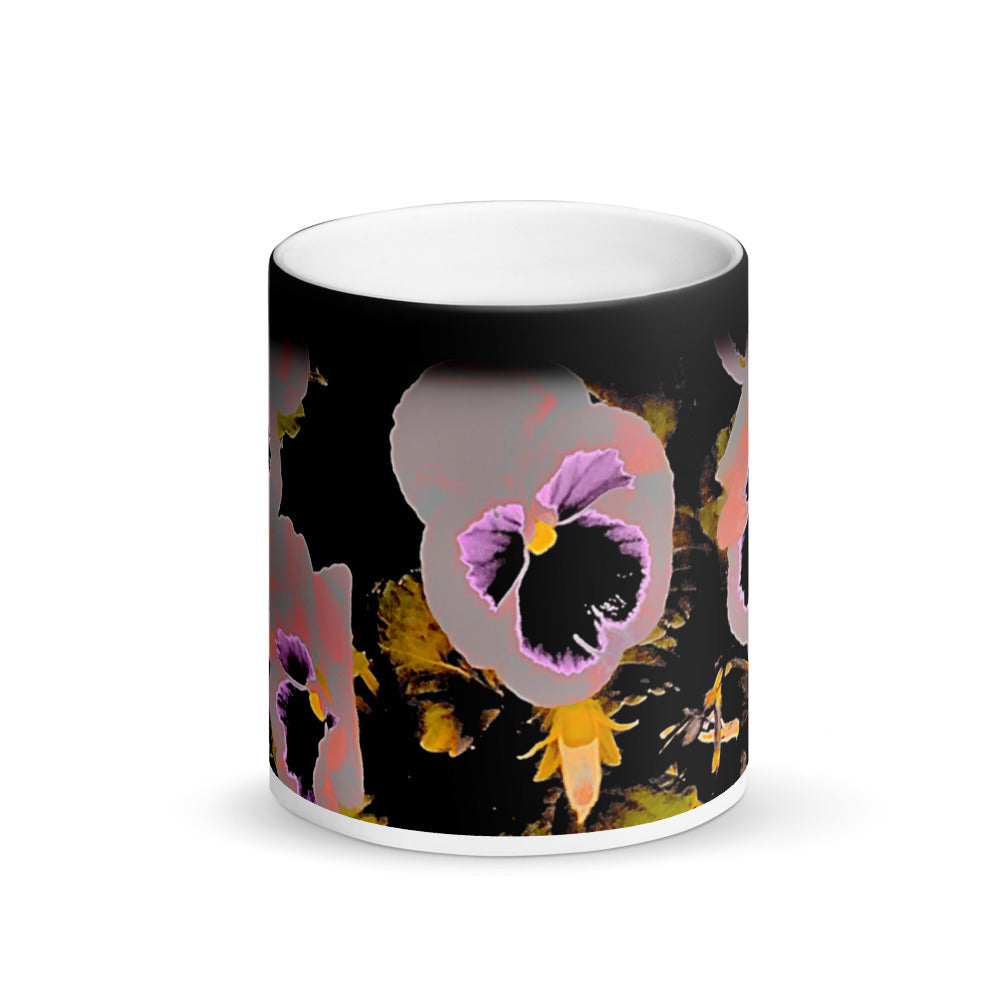 Pansy's Revolution Matte Black Magic 11oz Coffee  Mug