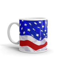 Load image into Gallery viewer, American Flag Wavy Coffee Mug
