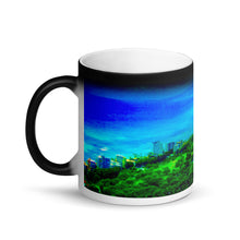 Load image into Gallery viewer, Honolulu  View Matte Black Magic 11oz Coffee Mug