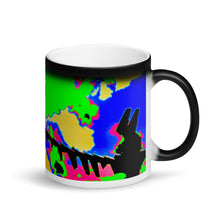 Load image into Gallery viewer, One of a Kind Plane Matte Black Magic 11oz Coffee  Mug