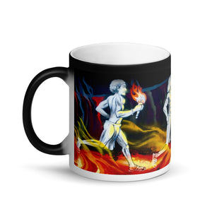 Hawaiian Warriors Running Matte 11oz Coffee Mug