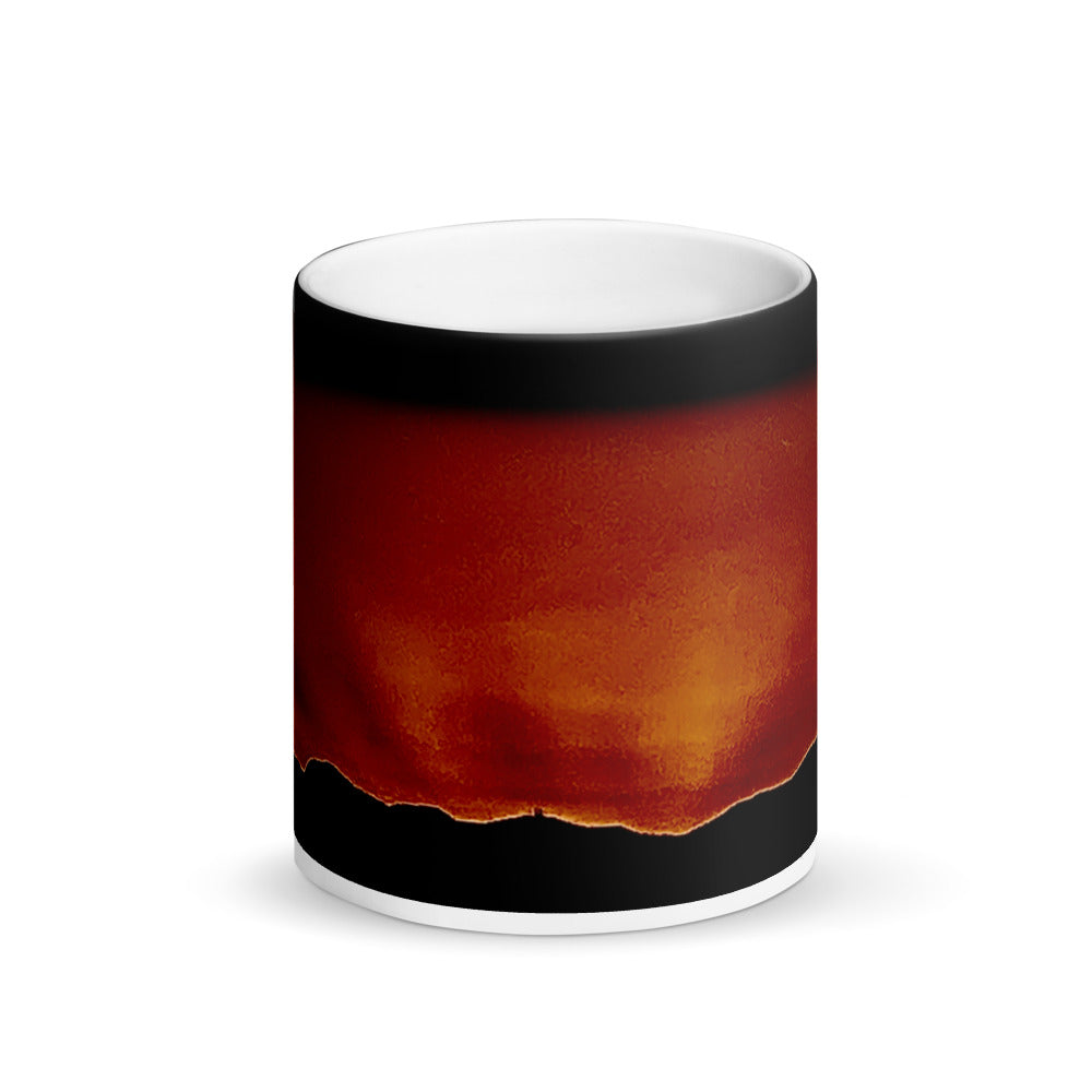 Diamond Sunset Matte Black Magic 11oz Coffee Mug