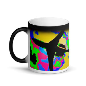 One of a Kind Plane Matte Black Magic 11oz Coffee  Mug