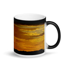 Load image into Gallery viewer, Sunset Warm Springs 11ozMatte Black Magic Coffee Mug