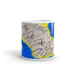 Map of Mexico 11oz Coffee Mug