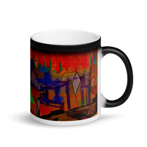 Pyramid Matte Black Magic 11oz Coffee Mug