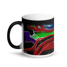 Load image into Gallery viewer, Swirling #2 Matte Black Magic 11oz Coffee Mug