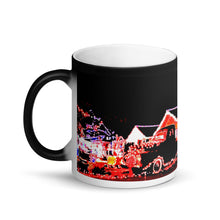 Load image into Gallery viewer, Christmas Pickup Truck Lights Matte Black Magic 11oz Coffee Mug