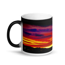Load image into Gallery viewer, Sunset Purple Hue's 11oz Matte Black Magic Coffee  Mug