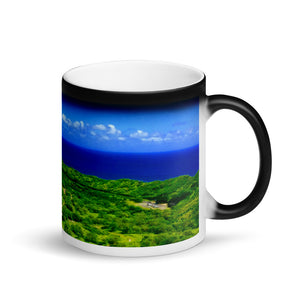 Diamond Head North Crater 11oz Matte Black Magic Coffee Mug