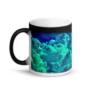 Boulder Clouds Matte Black Magic Coffee Mug