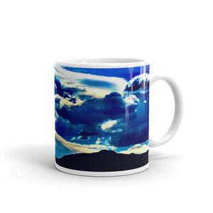 Blue Clouds Mountain Mug