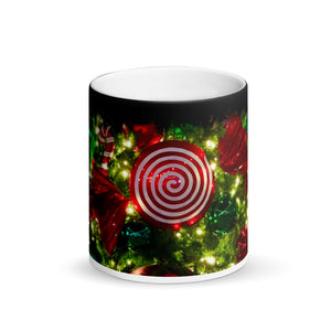 Christmas Tree Ornaments Matte Black Magic 11oz Coffee  Mug