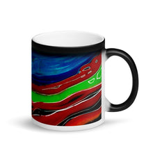 Load image into Gallery viewer, Swirling Matte Black Magic 11oz Coffee Mug