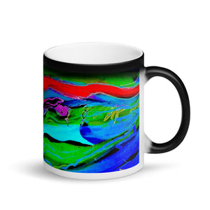 Swirling #3 Matte Black Magic 11oz Coffee Mug